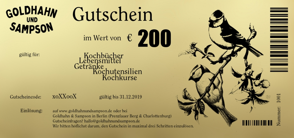 33dde190690bd7 Gutschein 200 EUR