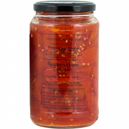 Masseria Dauna - Spaccatelle - hand cut coarse tomatoes - 550g-Glas