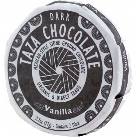 Taza (50%) DARK Vanilla Chocolate, 50 % cocoa, 77-g-Disc