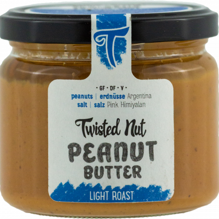 Twisted Nut - Organic Peanut Butter Light Roast, 300g glas